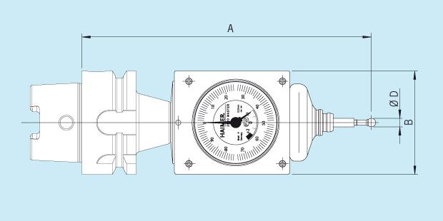 一体式超小型 3D 寻边器测量仪器的技术图纸